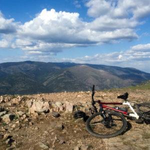 The Kona hardtail on Mount Sentinel