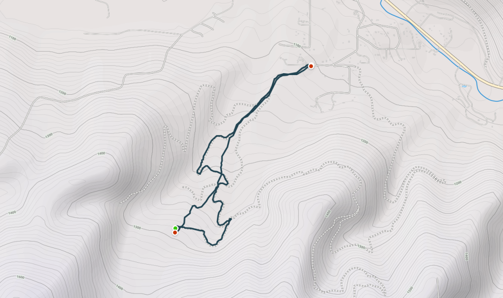 Route Map of the Mill Creek Downhill