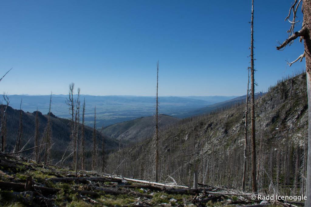 Bitterroot Valley from the ridge above Glen Lake