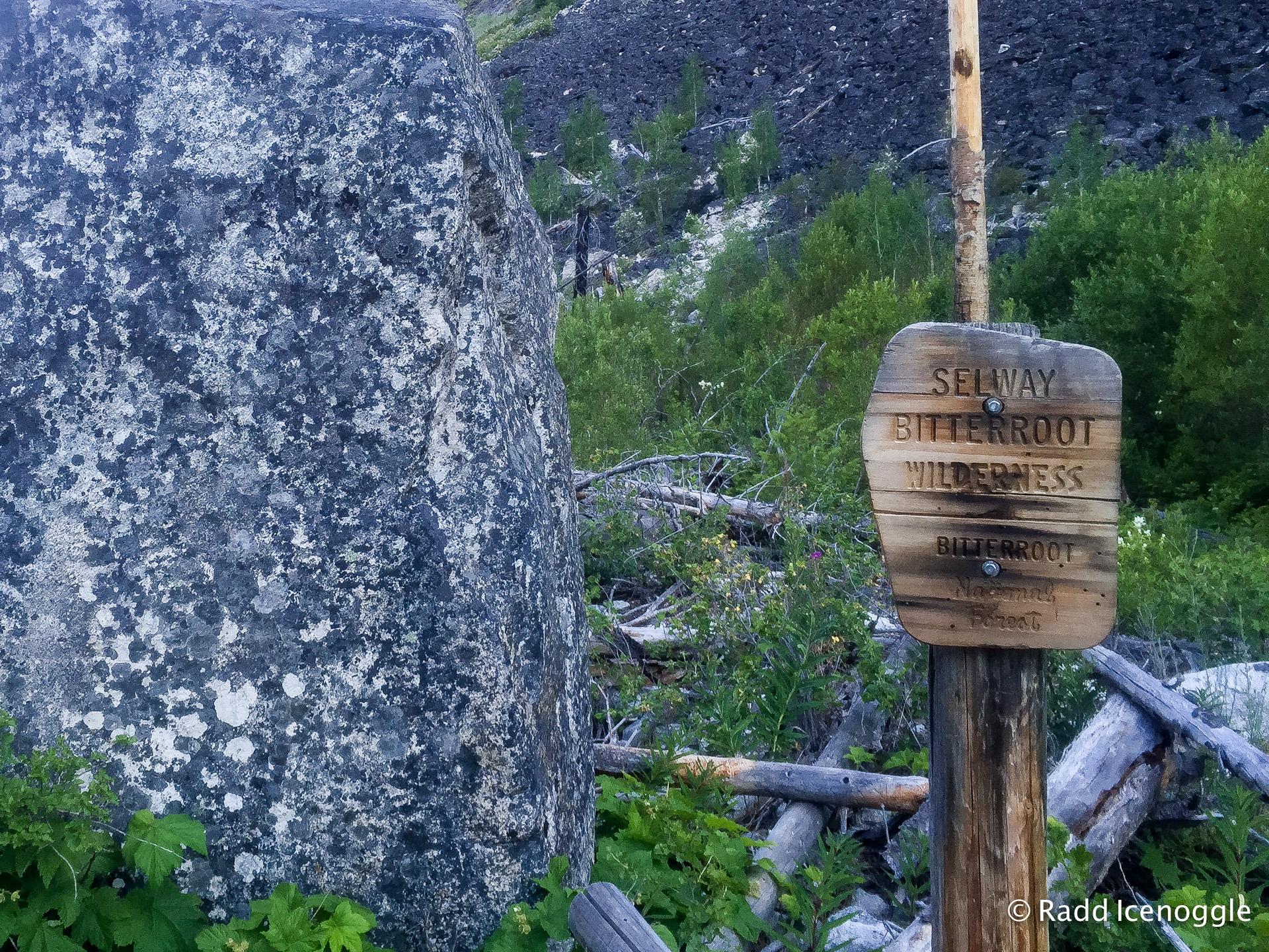Selway-Bitterroot Wilderness boundry