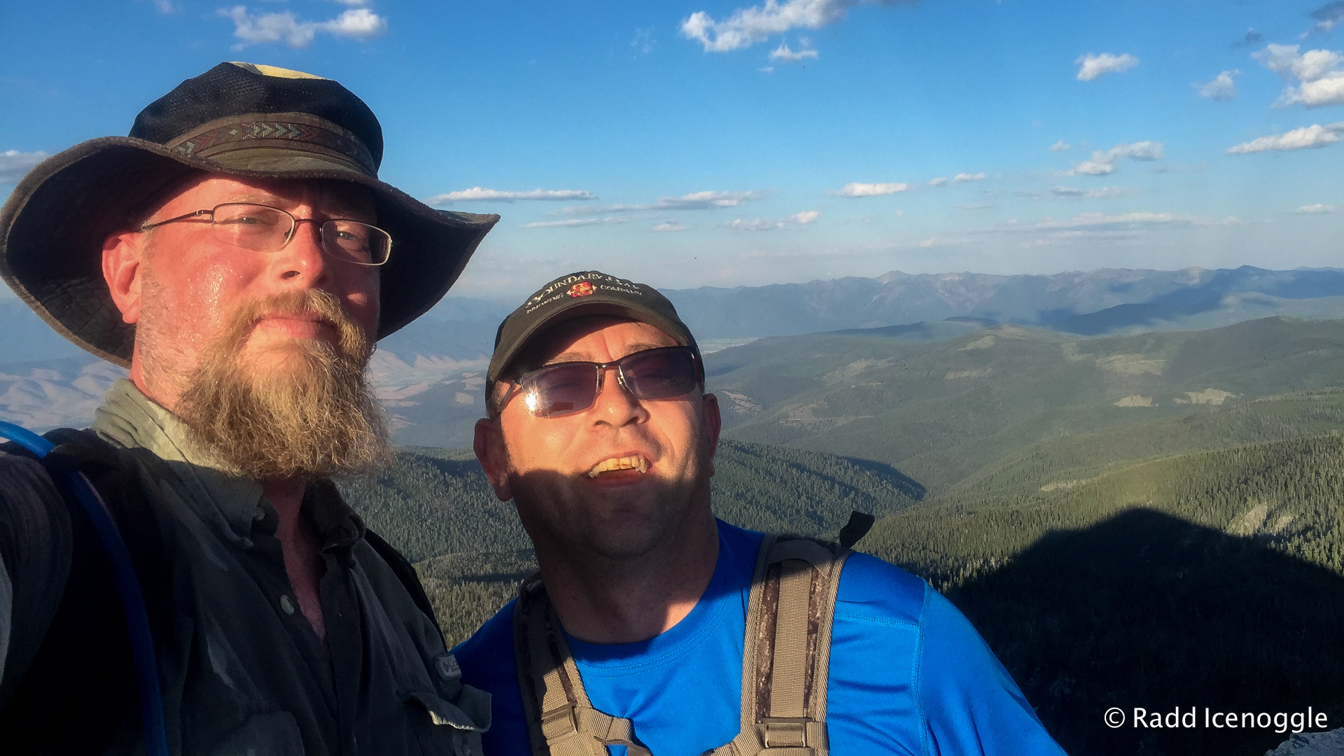 Jeff and I in a summit selfie