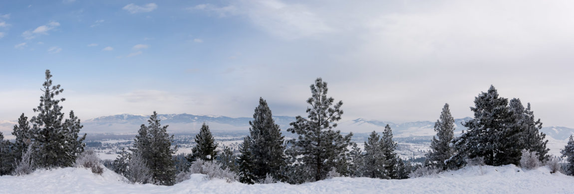 Missoula from Blue Mountain National Recreation Area