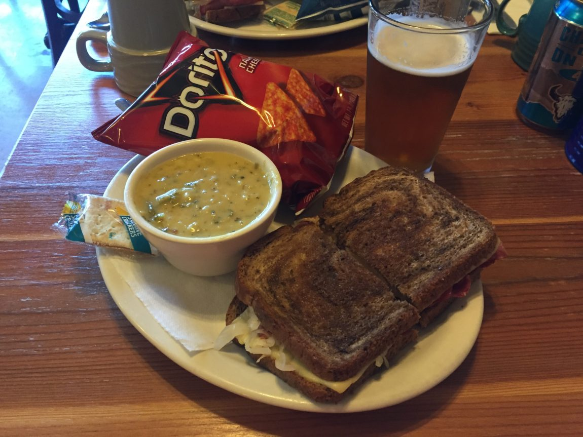 The Colt .45 (reuben sandwich) at the Stray Bullet