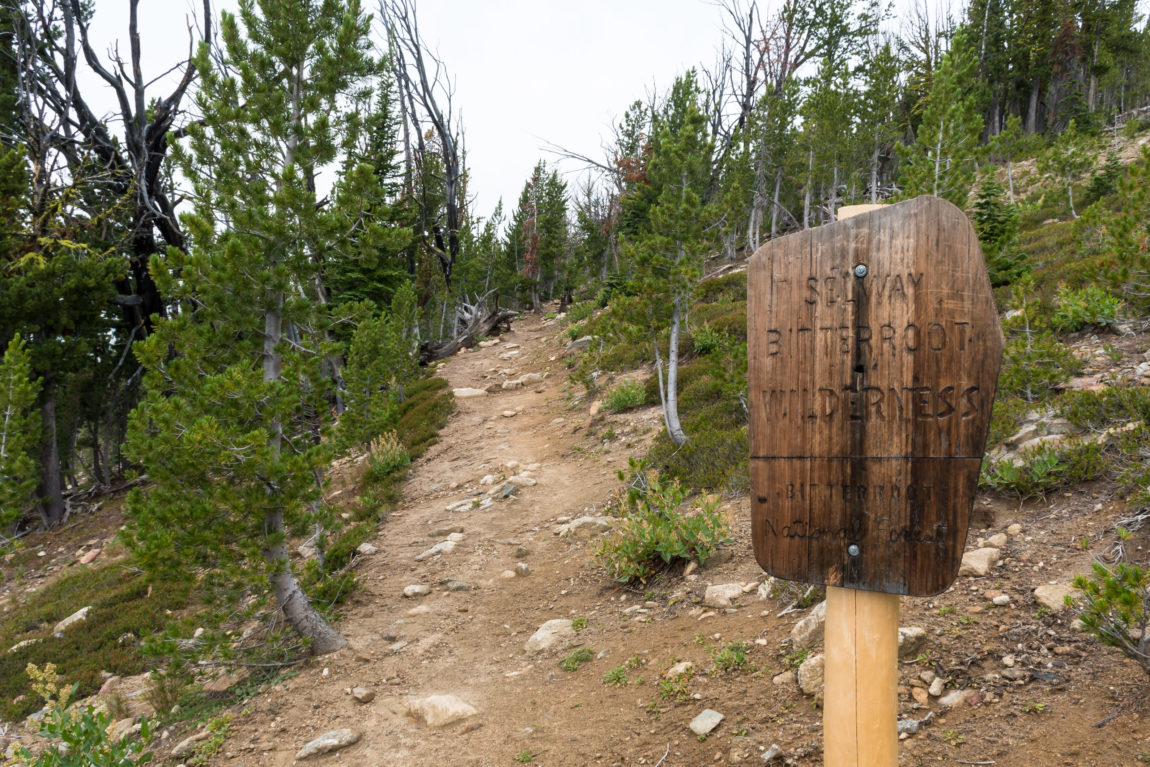 Entering the Selway-Bitterroot Wilderness Area