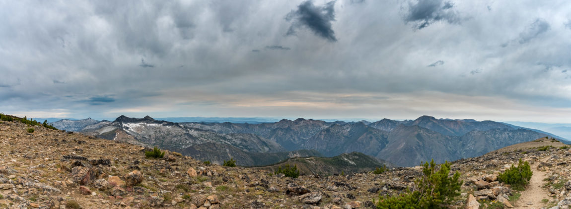 Panoramic view of the Bitterroot Range and the Heavenly Twins