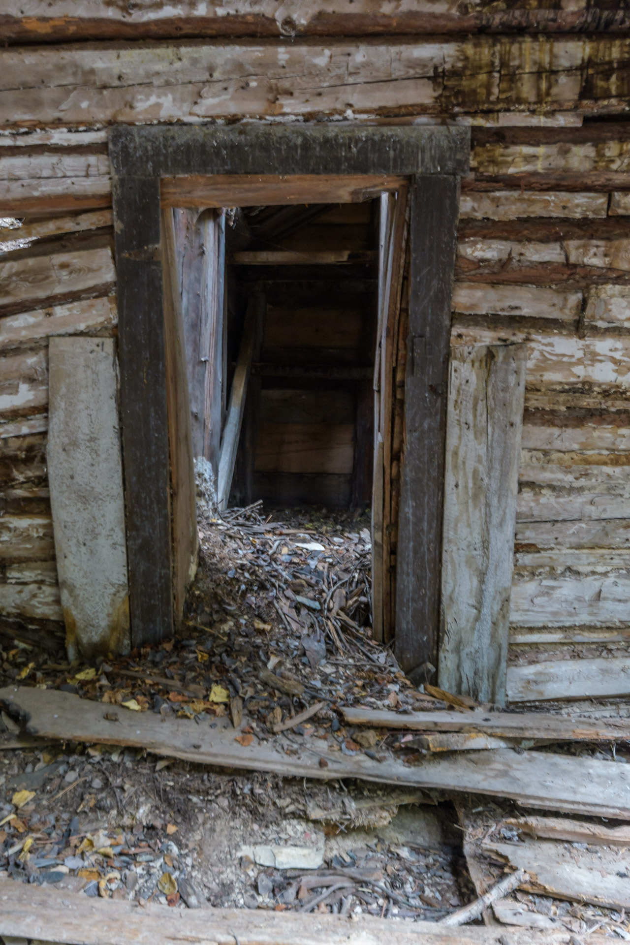Entrance to an old root cellar