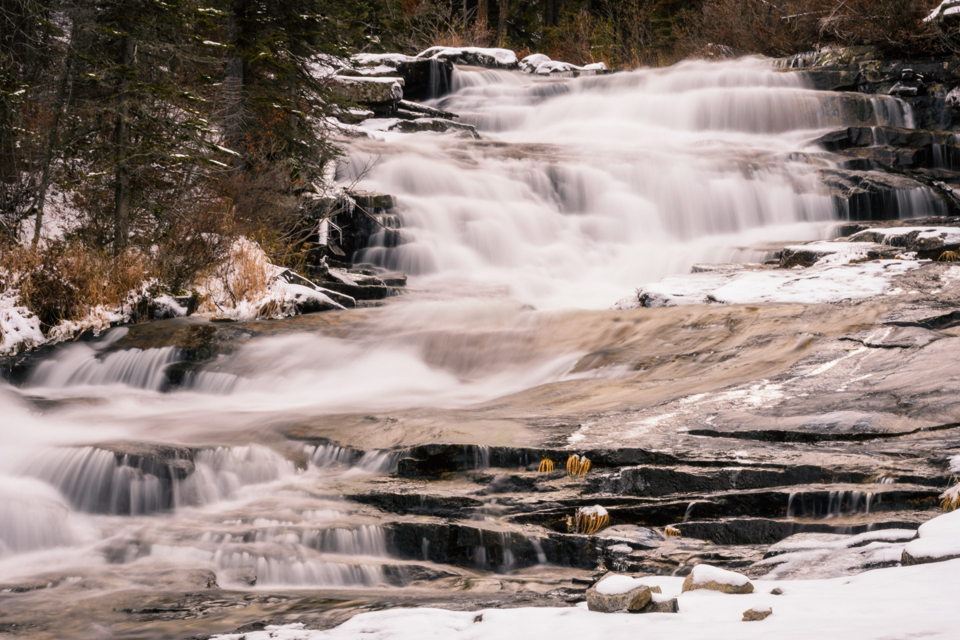 The upper set at Cascade Falls