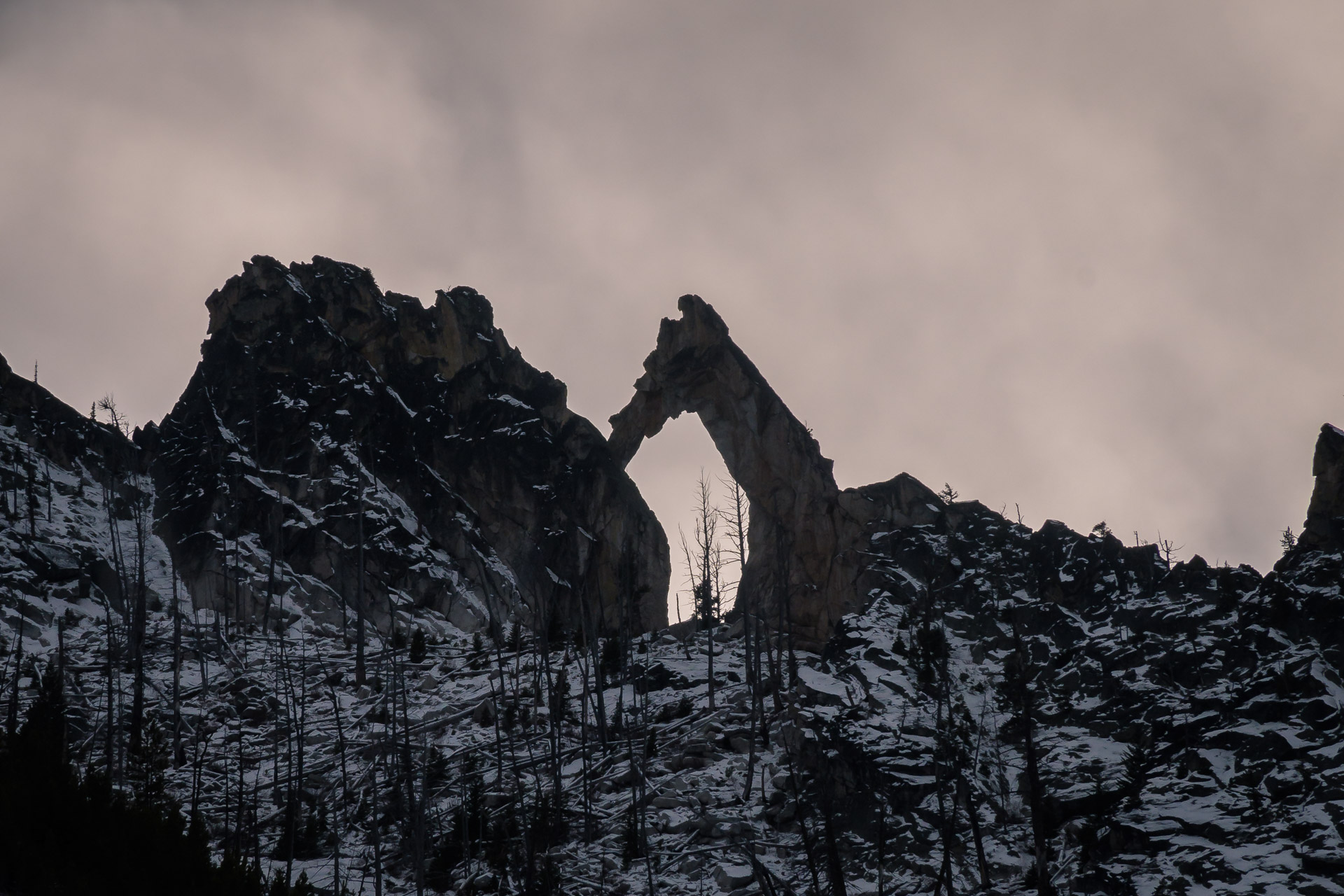 The arch on the ridge above the pack bridge
