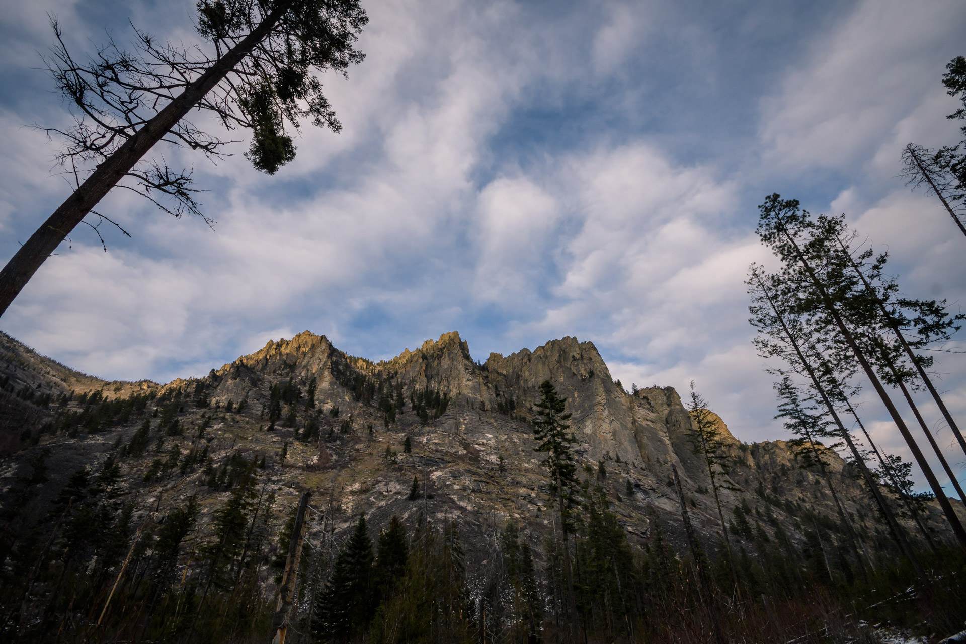 Crags over Blodgett Canyon