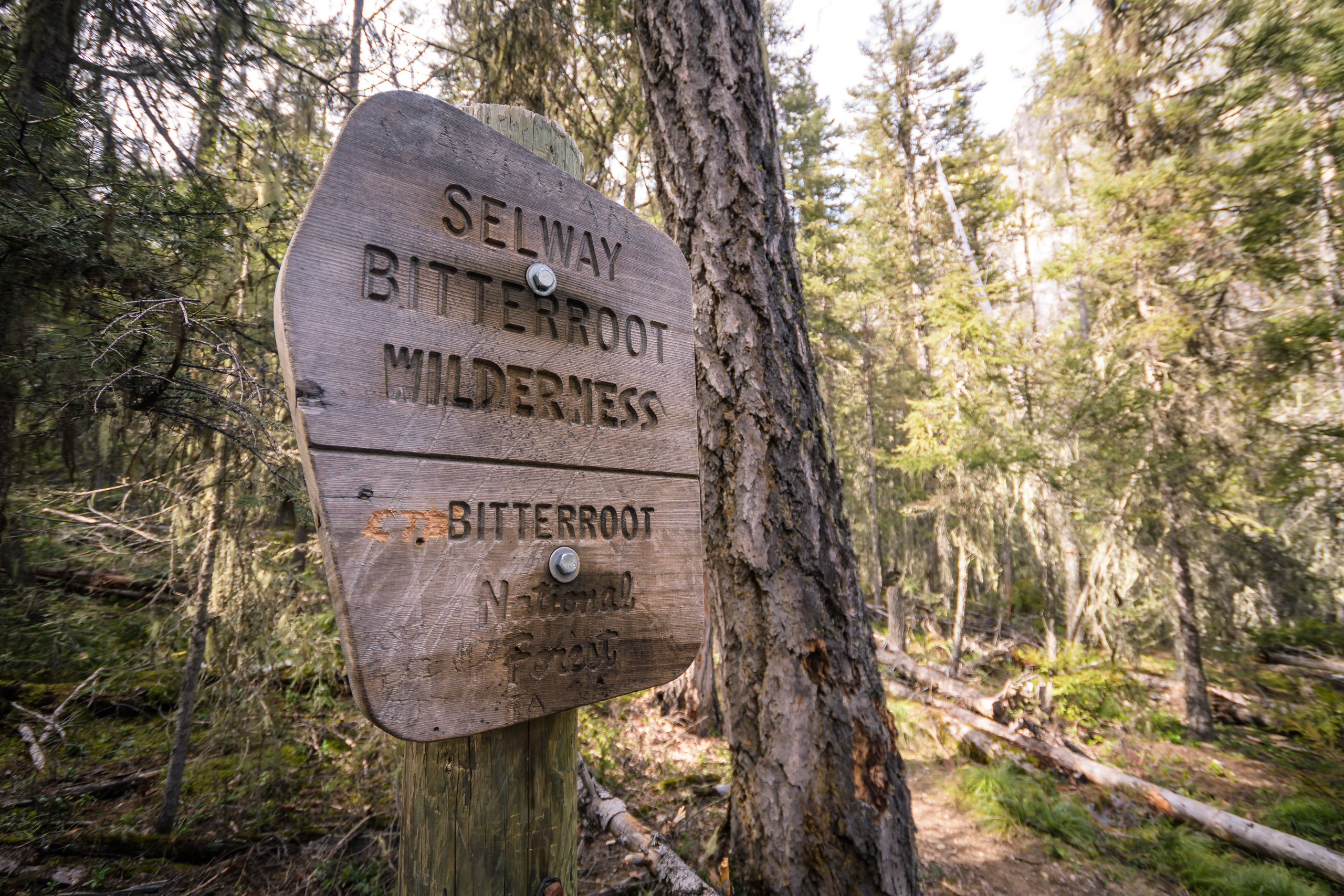 Always a welcome sign, entering the Selway-Bitterroot Wilderness