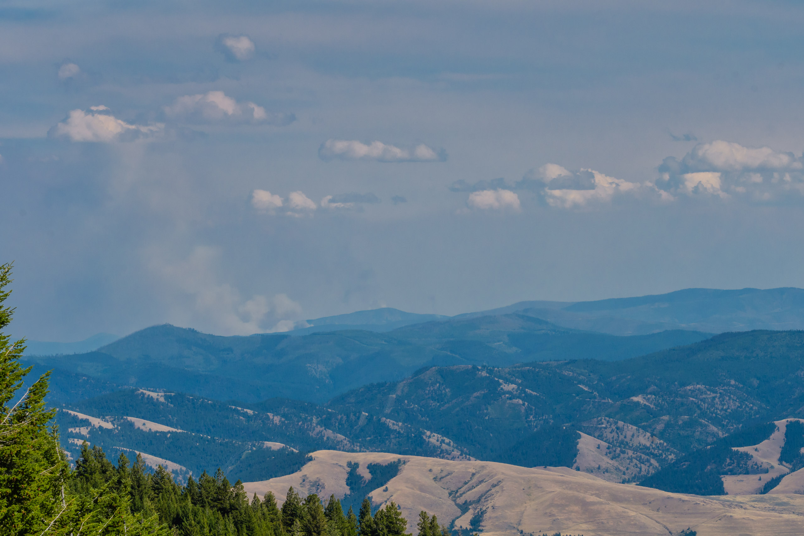 Smoke of the Goat Creek fire