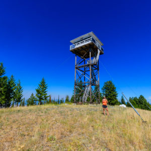 Blue skies over the Blue Mountain Lookout
