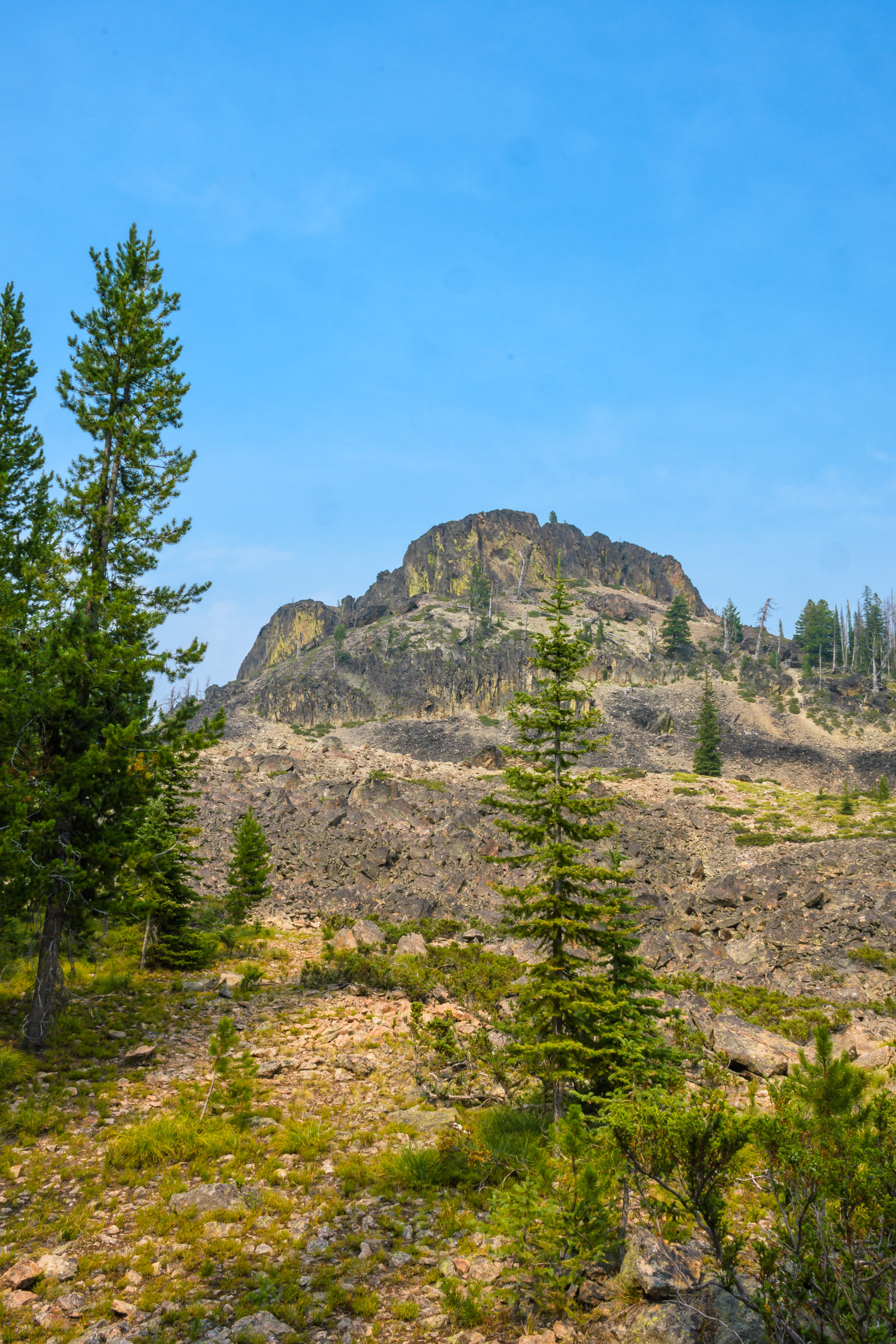 First unobstructed view of Castle Rock