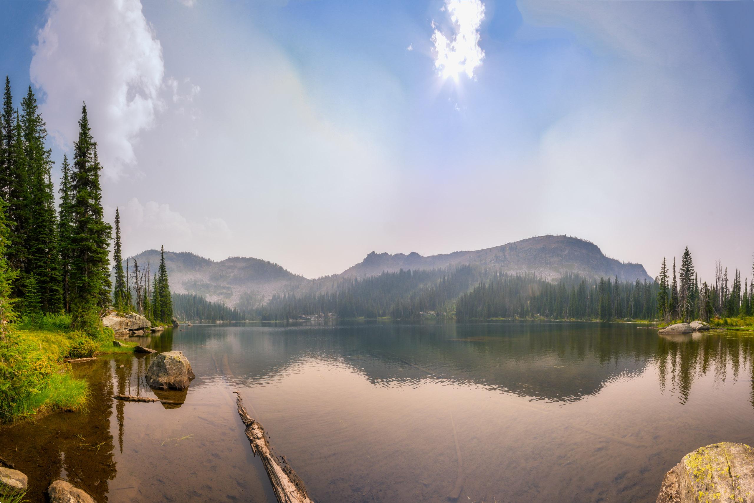 Coquina Lake under smoky skies