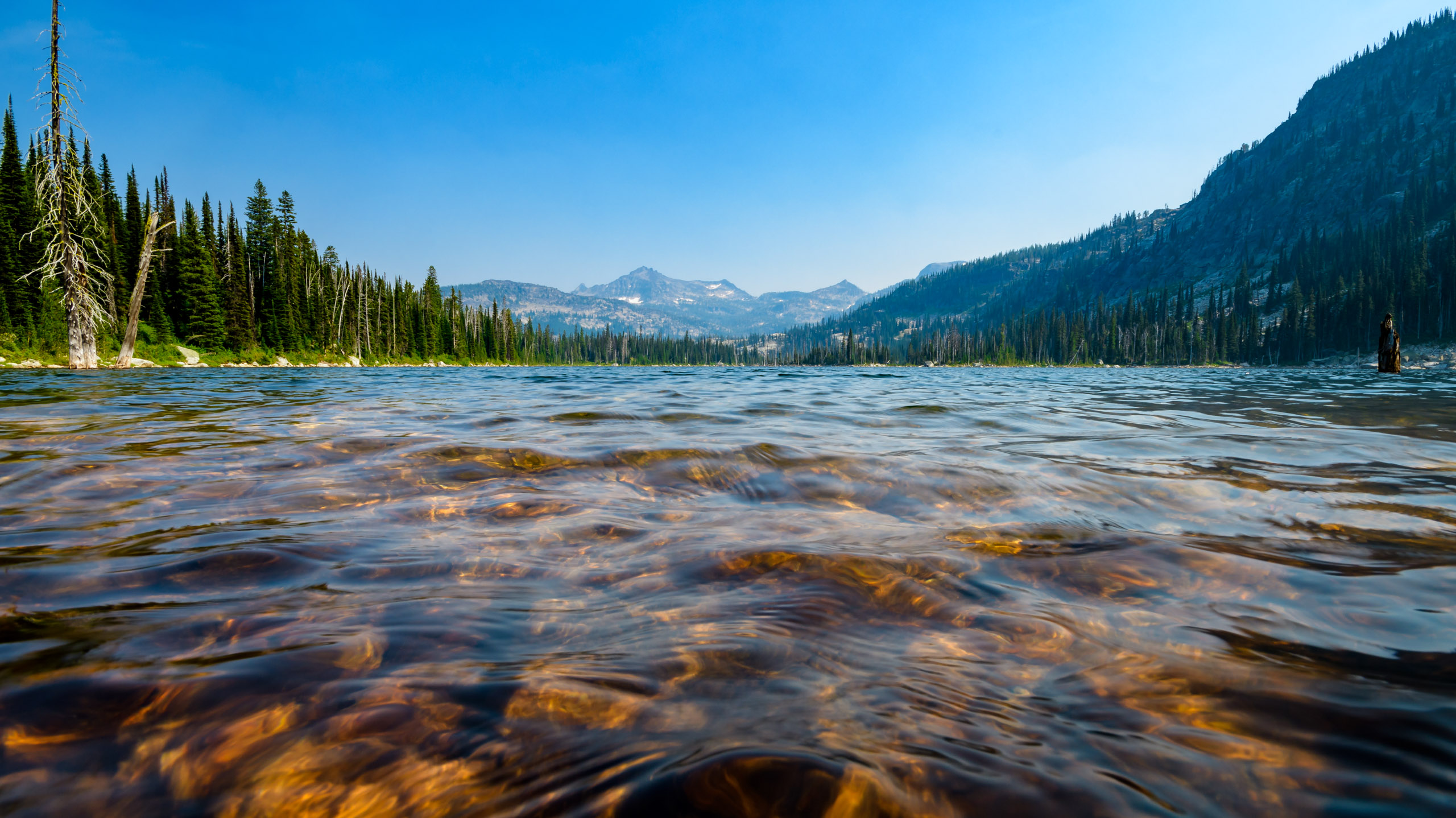 The waters of Fish Lake