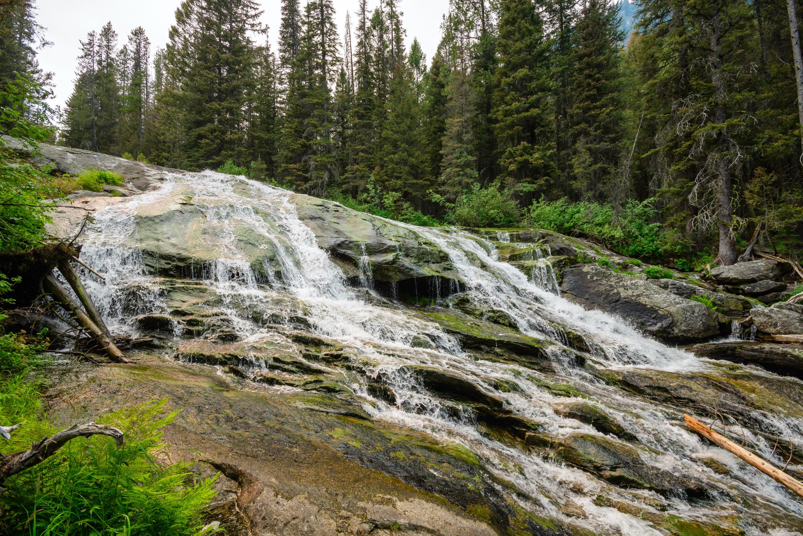 One of many waterfalls along Little Rock Creek