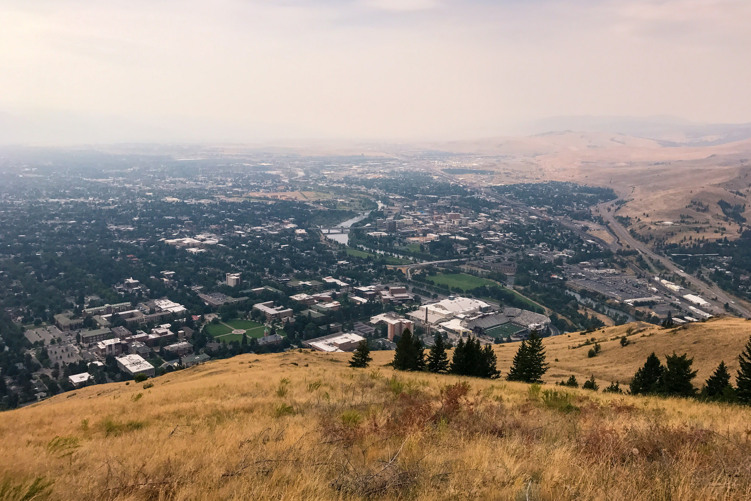University of Montana campus and Missoula